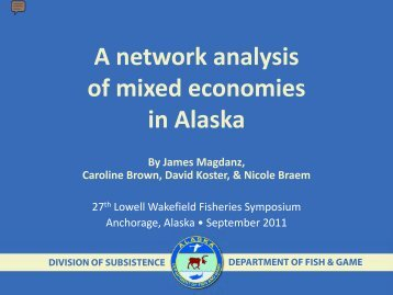 Magdanz et al. 2011. A network analysis of mixed economies in ...