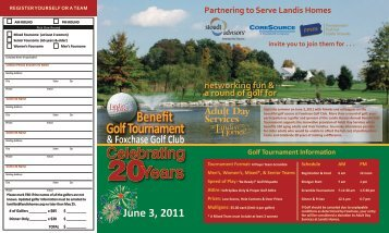 Benefit Golf Tournament Celebrating - Landis Homes