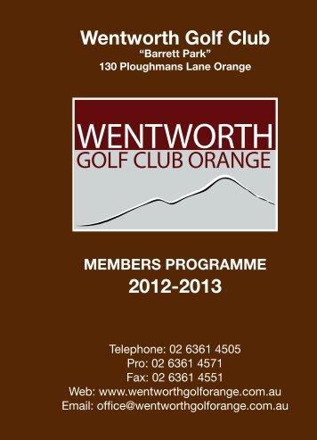 wentworth golf club orange