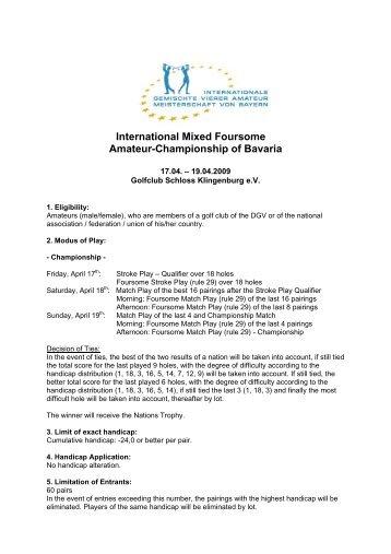 International Mixed Foursome Amateur-Championship of Bavaria