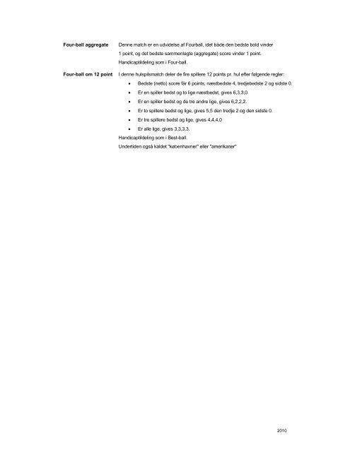 2. SPILLE- OG TURNERINGSFORMER - Dansk Golf Union