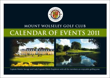 to view calender - Mount Wolseley Hotel