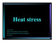 Heat stress - Minnesota Department of Labor and Industry