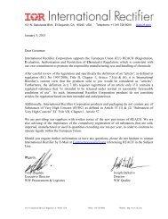REACH Compliance - International Rectifier