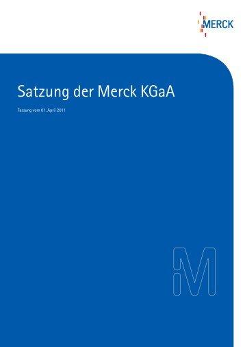 Satzung der Merck Kgaa - Merck Schweiz