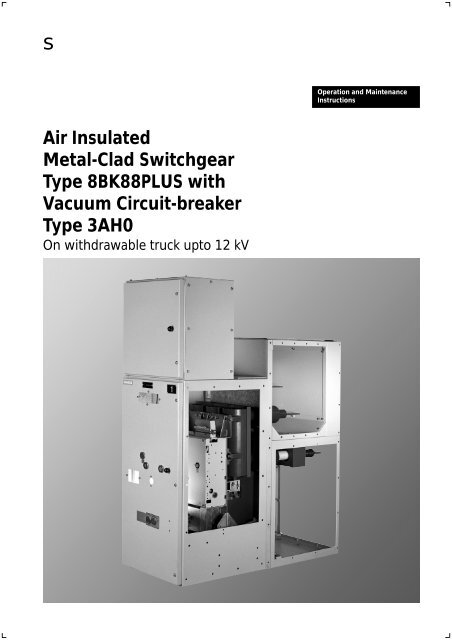Air Insulated Metal-Clad Switchgear Type     - Pradip Powertech