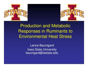 Production and Metabolic Responses in Ruminants to Environmental