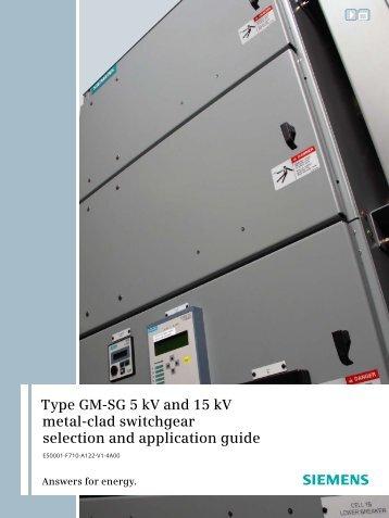 Type GM-SG 5 kV and 15 kV metal-clad ... - Siemens Energy