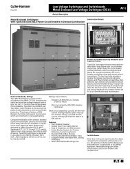magnum ds low voltage metal-enclosed switchgear - Eaton Canada