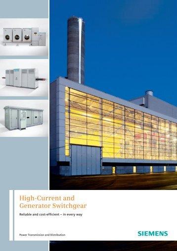High-Current and Generator Switchgear - Siemens Energy