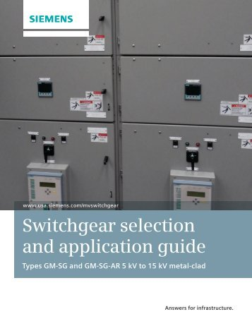 Switchgear selection and application guide Types ... - Siemens Energy