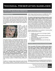 TECHNICAL PRESERVATION GUIDELINES - GSA