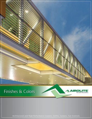 Finishes & Colors - The Airolite Company