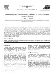 Deposition of hard metal nitride-like coatings in an electron cyclotron ...
