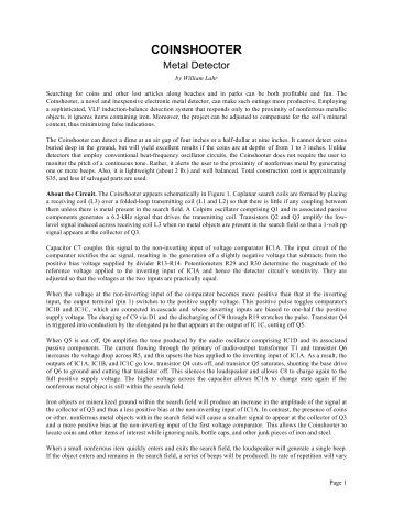 Coinshooter IB Metal Detector - Geotech