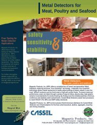 MPI Metal Detector MD meat products - Magnetic Products, Inc.
