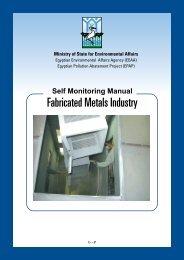 Fab. Metals.pdf - (EEAA) Industrial Unit - Egyptian Environmental ...