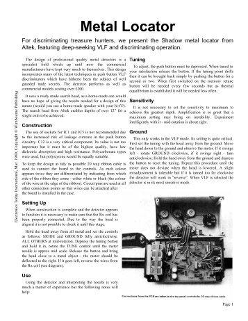 Shadow Metal Detector - Geotech