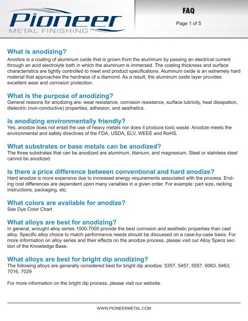 What Is Anodizing