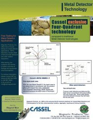 Cassel Metal Detector Benefits - Magnetic Products, Inc.