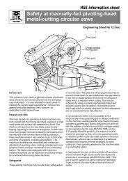 Safety at manually-fed pivoting-head metal-cutting circular saws - HSE