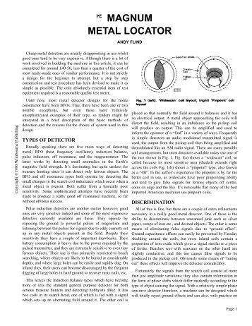 Magnum Metal Locator I & II - Geotech