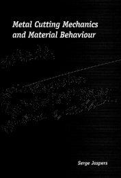 Metal Cutting Mechanics and Material Behaviour - Technische ...