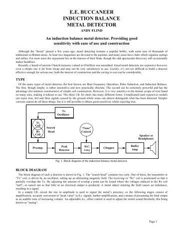 ee buccaneer induction balance metal detector - Geotech