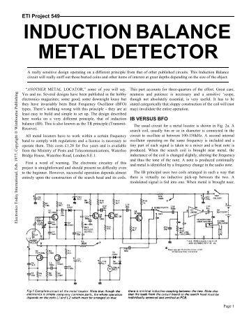 ETI 549 Metal Detector - Geotech