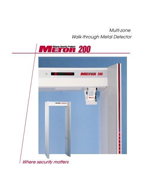 Walk Through Metal Detector Multi Zone Damm Romita
