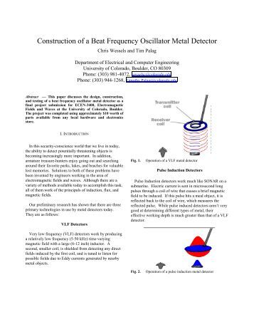 Construction Of A Beat Frequency Oscillator Metal Detector