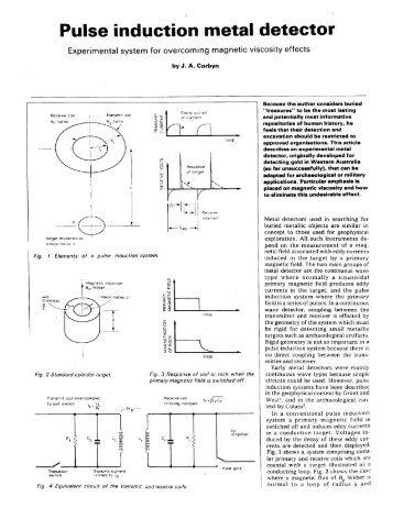 Pulse Induction Metal Detector part 1 (PDF) - Geotech