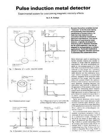 Pulse Induction Metal Detector part 1 (PDF) - Geotech
