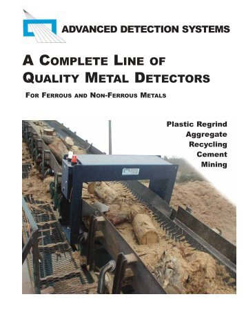 a complete line of quality metal detectors - Advanced Detection ...