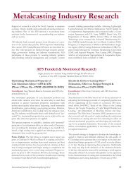 Metalcasting Industry Research - American Foundry Society