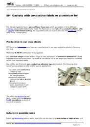 EMI Gaskets with conductive fabric or aluminium foil - Acal Technology