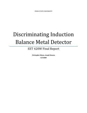Discriminating Induction Balance Metal Detector - Penn State Wilkes ...