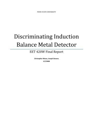 Discriminating Induction Balance Metal Detector - Penn State Wilkes ...