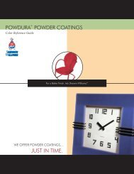 Powdura Powder Coatings : Color Reference Guide - East Side ...