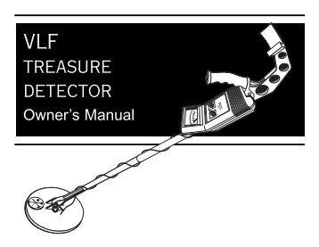 Bounty Hunter VLF Owners Manual.pdf - Shop Metal Detectors