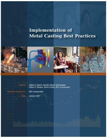 Implementation of Metal Casting Best Practices - EERE - U.S. ...