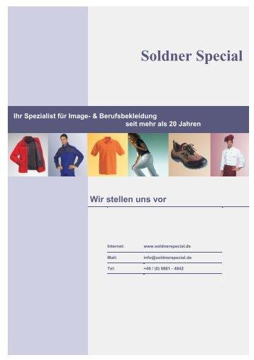 Soldner Special Ihr Spezialist für Image- & Berufsbekleidung seit ...