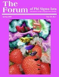 The Forum - Phi Sigma Iota