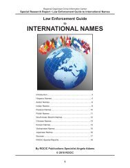 INTERNATIONAL NAMES - Public Intelligence