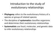 Introduction to the study of evolutionary relationships - Fog Ccsf Cc Ca