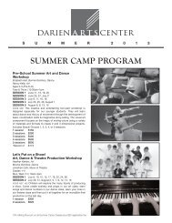 Information about our Summer Programs - the Darien Arts Center