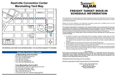 Nashville Convention Center Marshalling Yard Map - NAMM