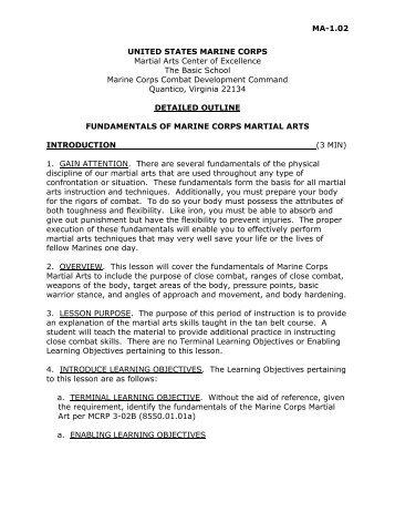 Fundamentals of Marine Martial Arts - Judo Information Site