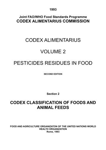 codex alimentarius volume 2 pesticides residues in food