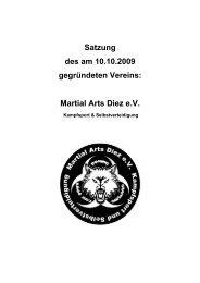§1 Name und Sitz - Martial Arts Diez e.V.